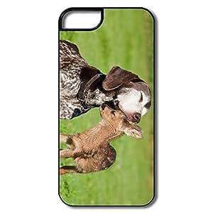 Custom Cheap Hard Plastic Non-slip Dog Deer Iphone 5 Cases