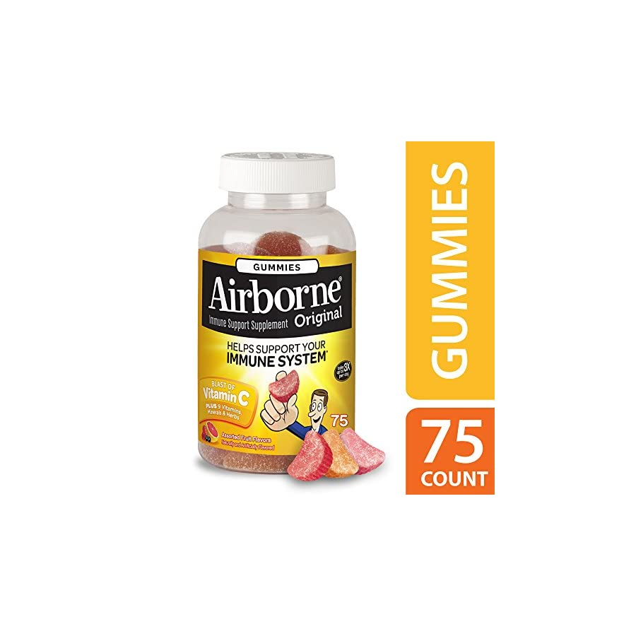 Airborne Assorted Fruit Flavored Gummies Vitamin C Complex