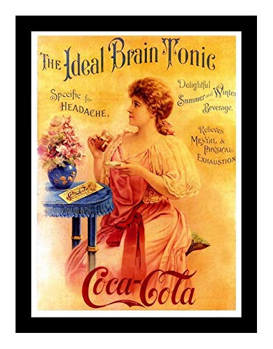(Iron Ons 8 x 10 Photo Ideal Brain Tonic Coca Cola Vintage Old Advertising Campaign Ads)