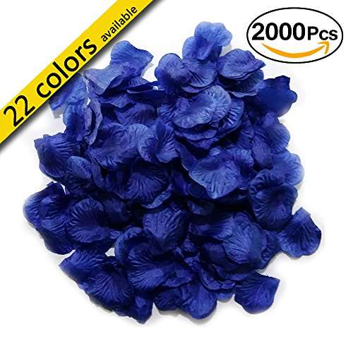 MayaRed 2000 PCS 22 Colors Silk Rose Petals Wedding Flower Decoration (Charms Luck Wedding Good)