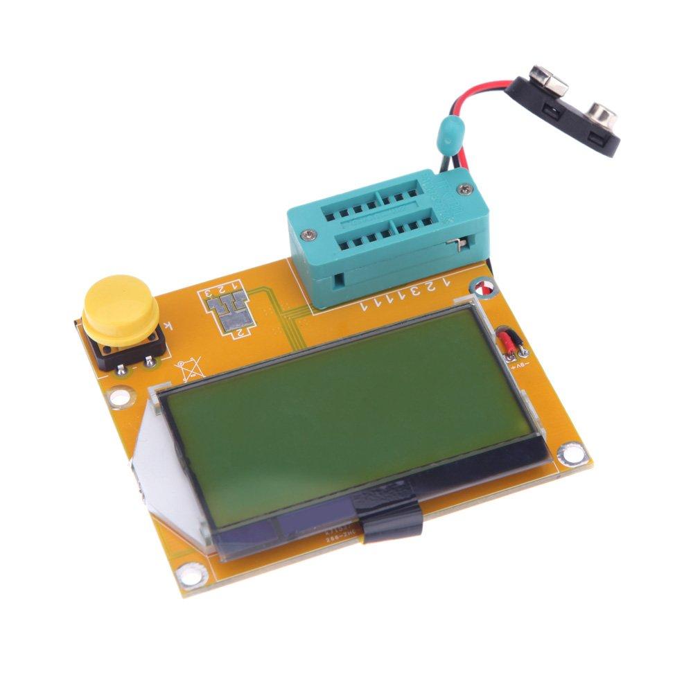 Wunes - LCDバックライトESRメータLCRは、トランジスタテスターダイオードトライオード容量診断ツールMOS PNP / NPN 128 * 64電子DIYキットを主導しました   B07CNKW4N8