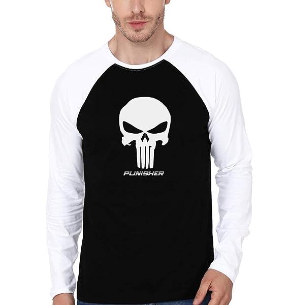 7cb5caad EKTARFA Men's Cotton Punisher Full Sleeves Tee Shirt (Multi-Coloured, Small)