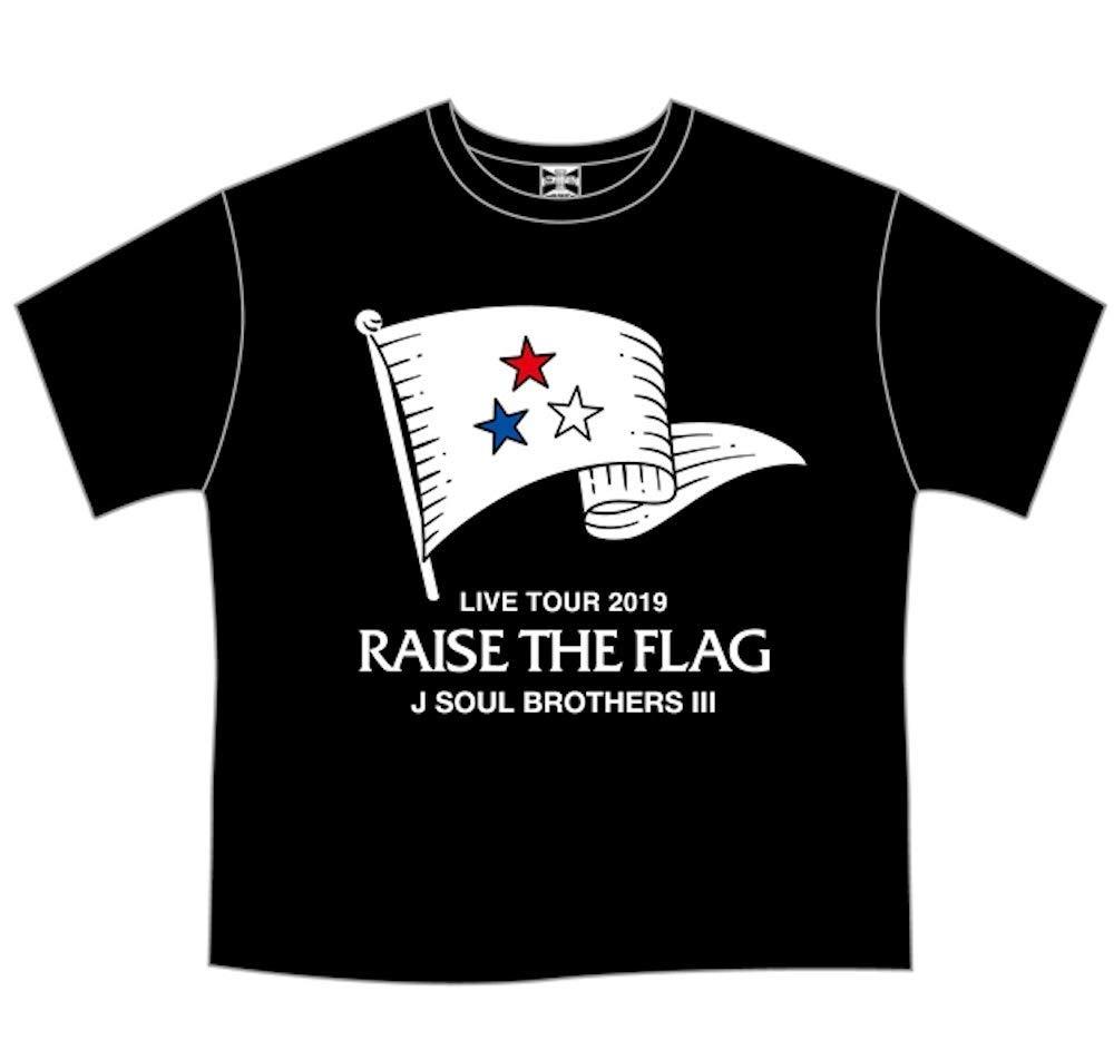 三代目 J SOUL BROTHERS BIG Tシャツ BLACK RAISE THE FLAG   B07Q9PMZC7