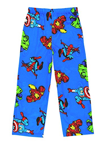 Avengers Boys Lounge Pajama Pants (Large/12-14, Blue) (Fleece Boys Pant Sleep)
