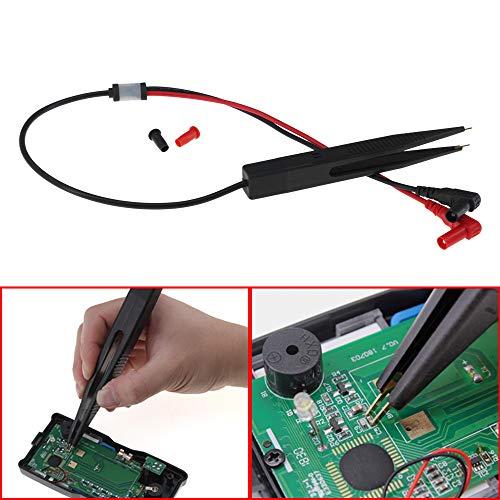 Islandse 70cm Multimeter Probe 10mm Car Digital Multimeter SMD Inductor Test Clip Meter Probe Tweezers for Resistor Multimeter Capacitor Black by Islandse_Cell Phone Accessories (Image #3)