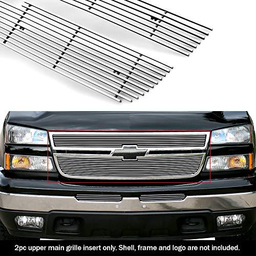 2006 Chevrolet Silverado Grille - APS Compatible with 06 Chevy Silverado 1500 05-06 Silverado 2500HD 3500 Billet Grille C65306A