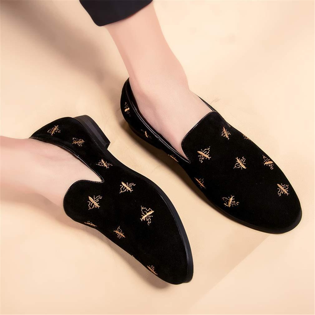 YAN Herren Kleid Schuhe, Loafer & Slip-Ons Driving Driving Driving Schuhe Wildleder New Faul Schuh Mode Formelle Schuhe Schwarz Gold (Farbe   Schwarz, Größe   40) bbaea0