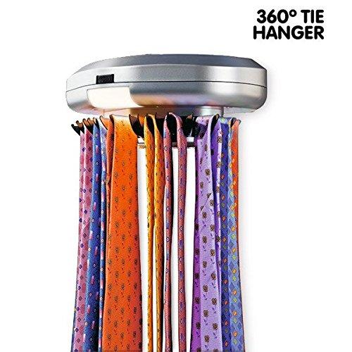 Porta Cravatte Porta Cinture Elettronico Girevole 30 posti 360 ...