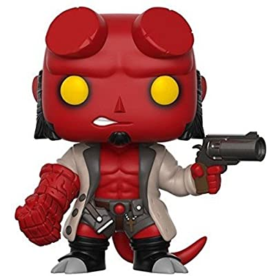 Funko Pop Comics: Hellboy No Horns Collectible Vinyl Figure (styles may vary): Funko Pop! Comics:: Toys & Games