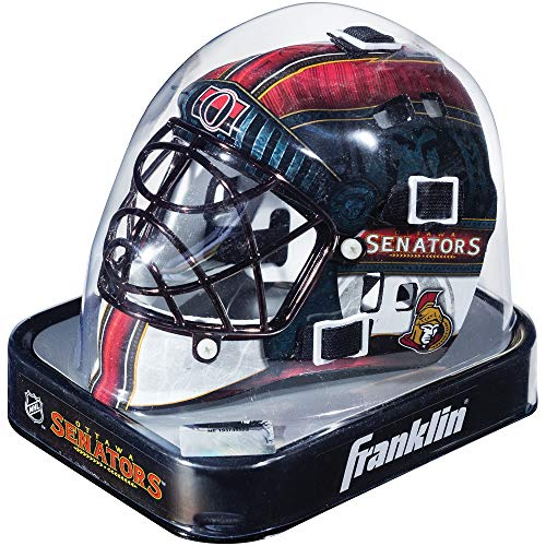 Ottawa Senators Helmet - Franklin Sports NHL League Logo Ottawa Senators Mini Goalie Mask
