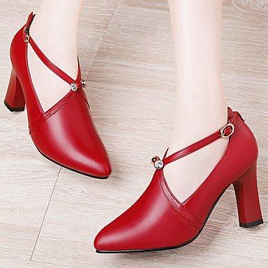 sandalias de las mujeres de primavera y verano Otro sintético oficina y carrera del vestido ocasional de Plataforma Negro Blanco Red