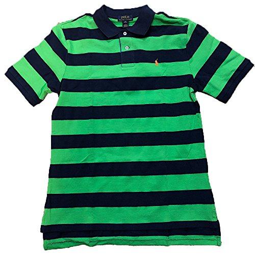 RALPH LAUREN Boys 8-20 Striped Cotton Mesh Polo (X-Large 18-20)