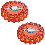 2 x Warnblinkleuchte 16LED Magnet Warnleuchte Notfallleuchte Rundumleuchte