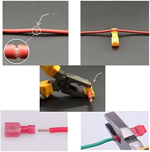 30 pcs T Tap Insulated Wire Quick Splice Terminal /& Spade Connector Kit
