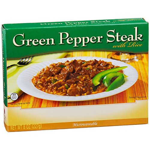 NutriWise - Green Pepper Steak w/Rice - High Protein Diet Entree (1 Box) (Calories Green Pepper Bell)