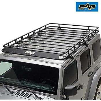 Amazon Com Eag 2 Door Roof Rack Cargo Basket W Wind