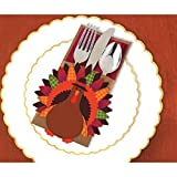 Amscan Thanksgiving Turkey Cutlery Holder Deluxe Multi-Pack Paper – 12 Pack