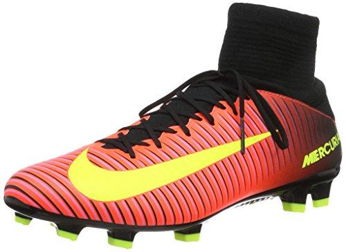 Nike Mercurial Veloce Iii Df Fg, Botas de Fútbol para Hombre Naranja (Total Crimson / Vlt-Blk-Pnk Blst)