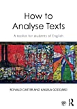 img - for How to Analyse Texts: A toolkit for students of English book / textbook / text book