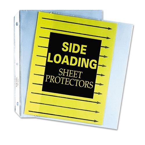 (C-Cline 62313 Side Loading Polypropylene Sheet Protector, Clear, 11 x 8 1/2, 50/BX)