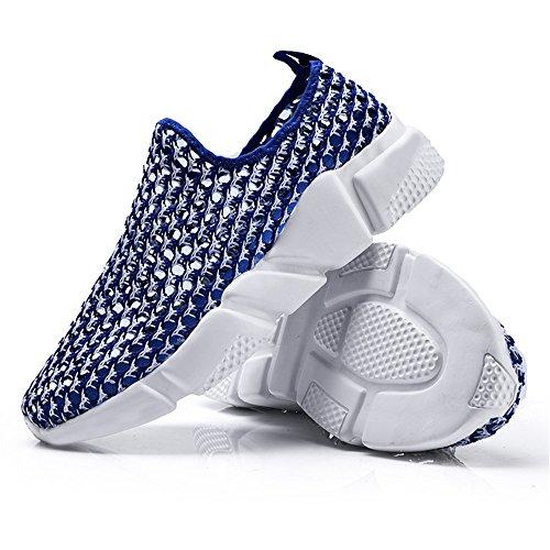 da Dimensione donna tessuto da e Xiaojuan il con uomo piatto Blu tempo 40 ginnastica in shoes tacco Blu EU Color libero Scarpe per qXqn6FHwO