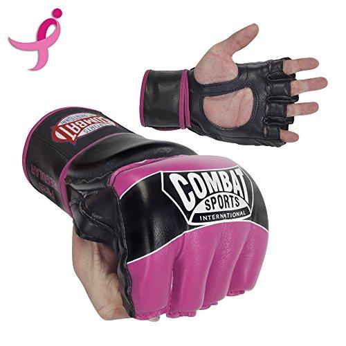 Combat Sports Pro-Style MMA Gloves, Pink, (Pro Fight Gloves)
