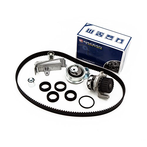 Timing Belt Kit Water Pump w/Tensioner Fits 01-06 Volkswagen Passat Audi A4 1.8L TURBO DOHC ()