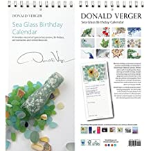 Sea Glass Birthday & Anniversary Perpetual Calendar. 5x11. Unique Nature Gifts. Best Quality Birthday, Christmas, Valentines Day & Mother's Day Gifts for Women & Men & Kids.