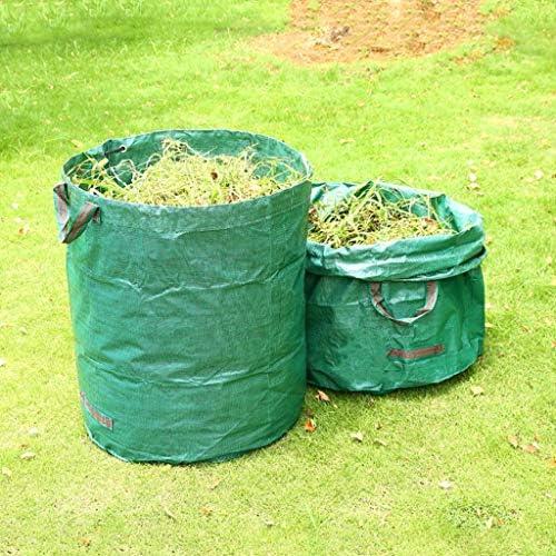 庭のゴミ袋、庭のゴミの草植物の花の収納のきちんとしたバケツ(2 x 272L H76 cm、D67 cm)