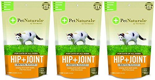 Cat Joint Health Supplement - (3 Pack) Pet Naturals of VT Hip + Joint Supplements for Cats