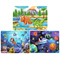 Wooden Jigsaw Puzzles For Kids Age 4 8 Year Old 60 Piece Colorful Wooden Puzzles For Toddler Children Learning Educational Puzzles Toys For Boys And Girls 3 Puzzles