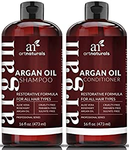 Argan Oil Shampoo and Conditioner Set by Art Naturals