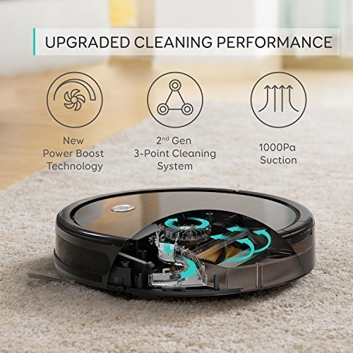 [Power Boost Tech] Eufy RoboVac 11+, High Suction, Self-Charging Robotic Vacuum Cleaner, Filter for Pet, Cleans Hard Floors to Medium-Pile Carpets by eufy