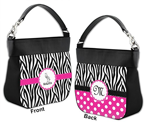Personalized w Purse Hobo Trim Genuine Zebra amp; Front Back Leather xzwqnq