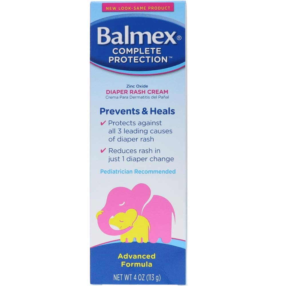 Balmex Diaper Rash Cream 4OZ (Pack of 8) by Balmex