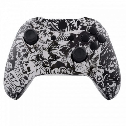 Grave Shell - ModFreakz™ Shell Kit Hydro Dipped Grave White Skull For Xbox One Model 1537 Controllers