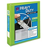 Avery Heavy Duty Nonstick View Binder w/Locking 1 Touch EZD Rings, 1 1/2'', Chartreuse