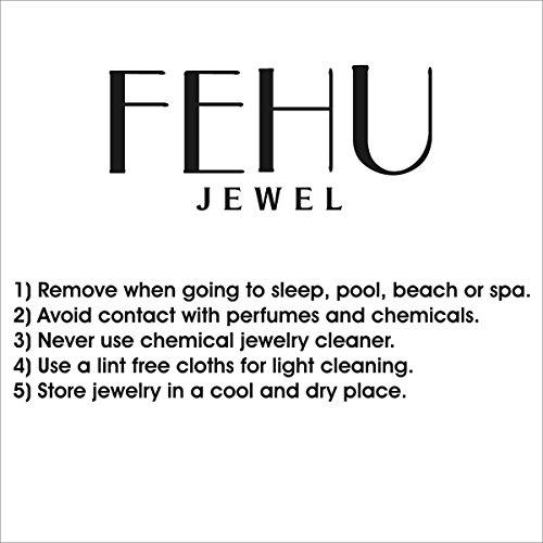 Fehu Jewel Women's 0.15ct Natural Diamond Fine Earrings Rose Gold Earrings Over Sterling Silver Gifts for Women by Fehu Jewel (Image #4)