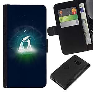 All Phone Most Case / Oferta Especial Cáscara Funda de cuero Monedero Cubierta de proteccion Caso / Wallet Case for HTC One M7 // Aguarius Zodiac Sign