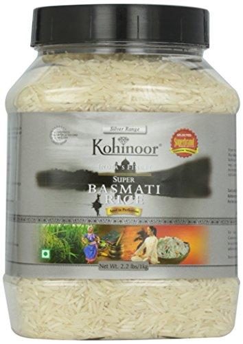 Kohinoor White Basmati Rice Jar 1 x 2.2lb by Kohinoor