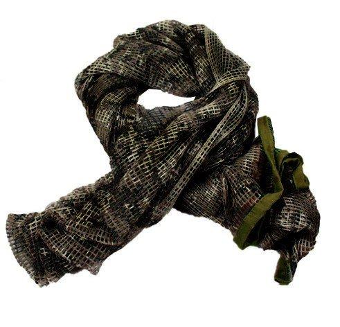 Ghillie Face Veil (Kingree Sniper Veil, Scrim Net Scarf, Tactical Sniper Face Veil, Cheche Foulard Filet Scarf, (Land Camo))