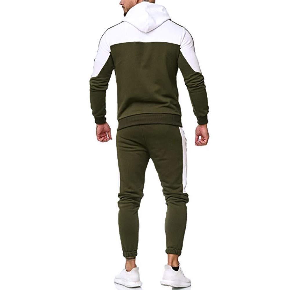 Ensemble de Pantalons de Jogging /à Manches Longues pour Hommes avec Pull /à Capuche d/écontract/é pour Hommes Roiper Surv/êtement de surv/êtement de Costume Sport Automne Automne Hiver Patchwork Roiper
