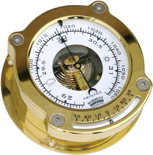 (Trintec Odyssey Collection Aneroid Barometer with Inclinometer Polished & Lacquered Brass Housing ODY-04-IN)
