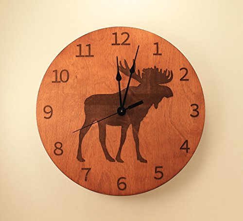 Moose laser cut clock