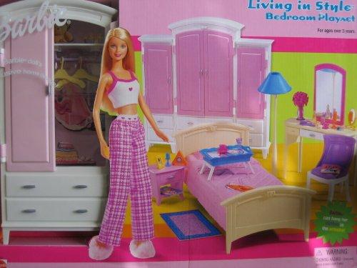 Barbie Living In Style Bedroom Playset W Armoire Vanity