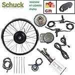 SCHUCK 48V 250W 26'' Rotazione Posteriore Kit Bicicletta elettrica per Kit Bici elettrica Parti di Biciclette Display…