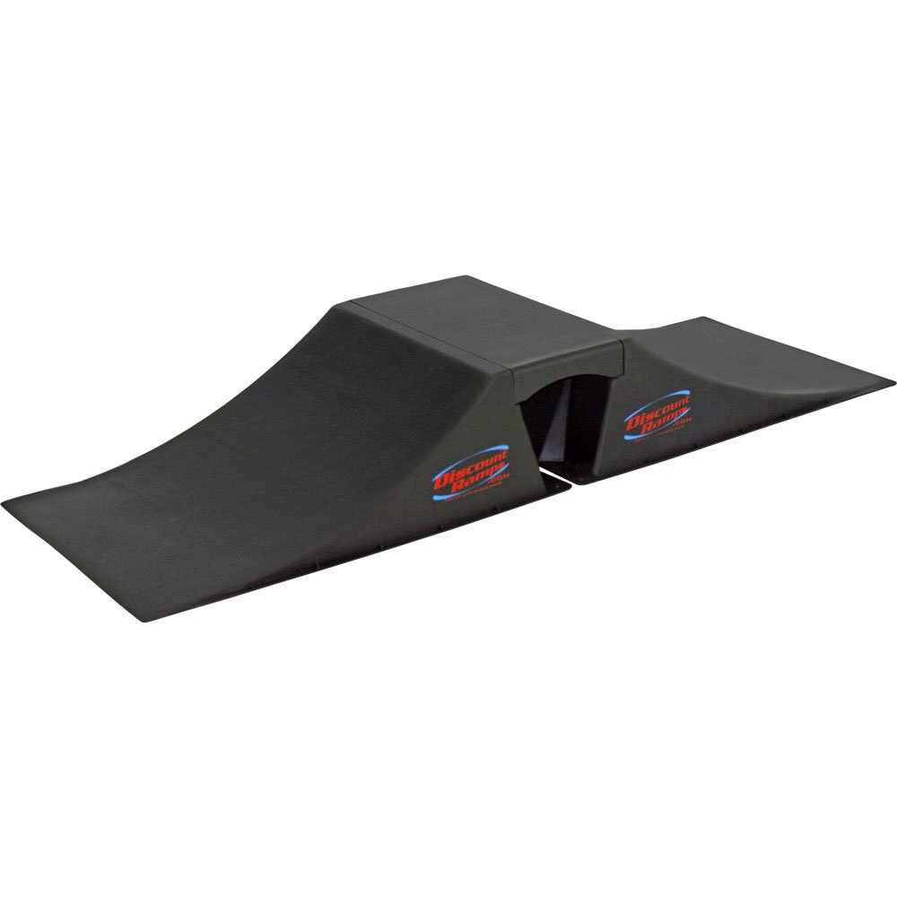 Discount Ramps SK-900 Black 12'' High Double Launch Skateboard Ramp Kit