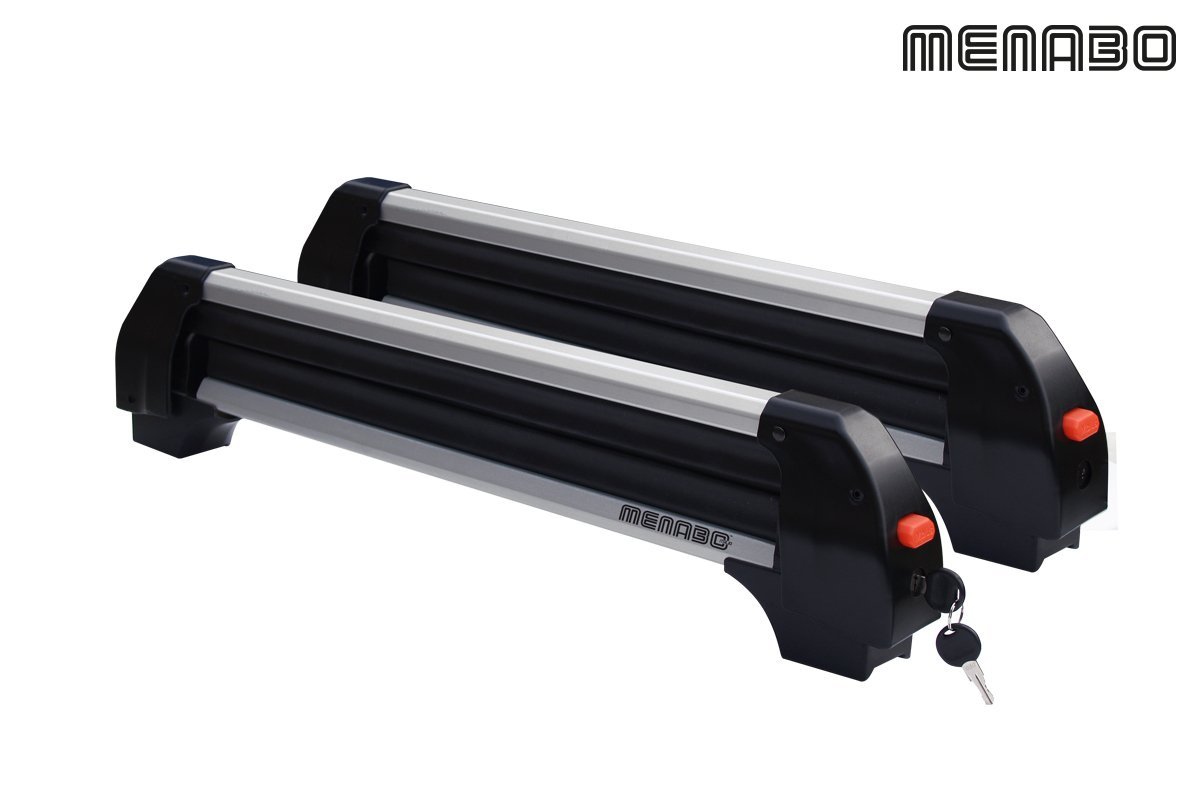 Menabo Frozen Alu Ski and Snowboard Rack for Crossbars