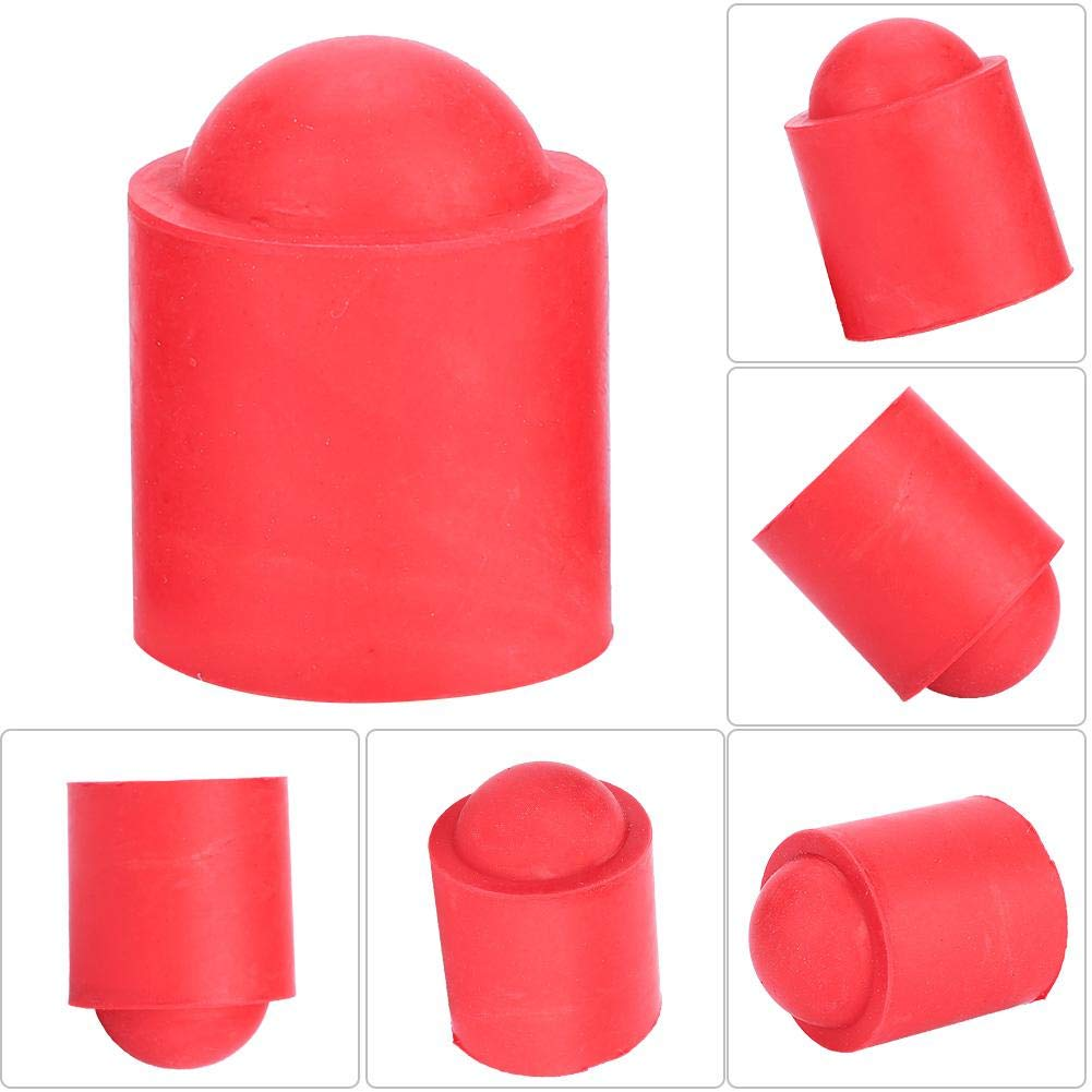 Alomejor 10pcs Pool Cue Caps Rubber Cue Cover Billiards Cues Stick Protection Cap for Pool Billiards Accessories