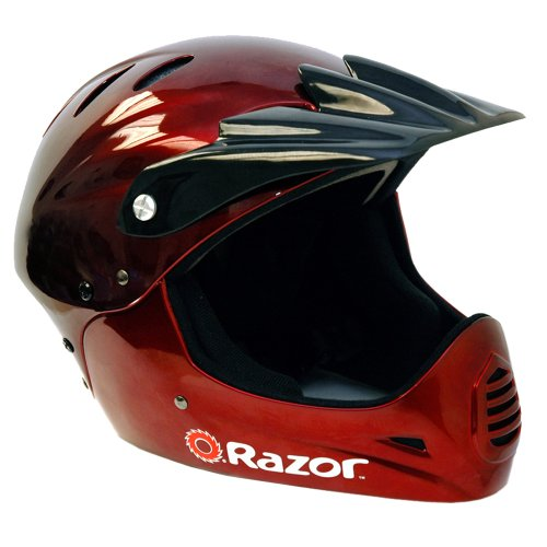 - Razor Full Face Youth Helmet, Black Cherry